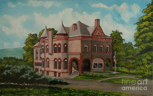 Colgate Wall Art - Painting - Administration Building by Charlotte Blanchard