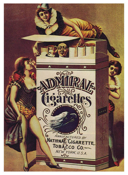 Wall Art - Mixed Media - Admiral Cigarettes - National Cigarette Tobacco Co - Vintage Advertising Poster by Studio Grafiikka
