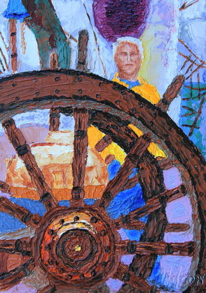 Painting - Admiring The Wheel by Chrys Wilson