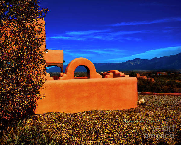 Photograph - Adobe At Sunset by Charles Muhle