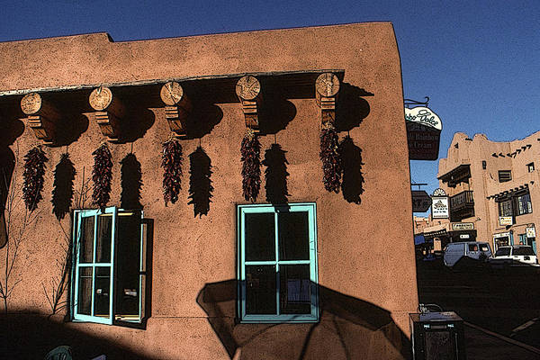 Drawing - Santa Fe Adobe House - New Mexico Artwork by Peter Potter