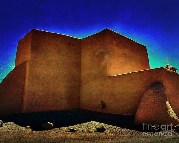 Photograph - Adobe Church II by Charles Muhle