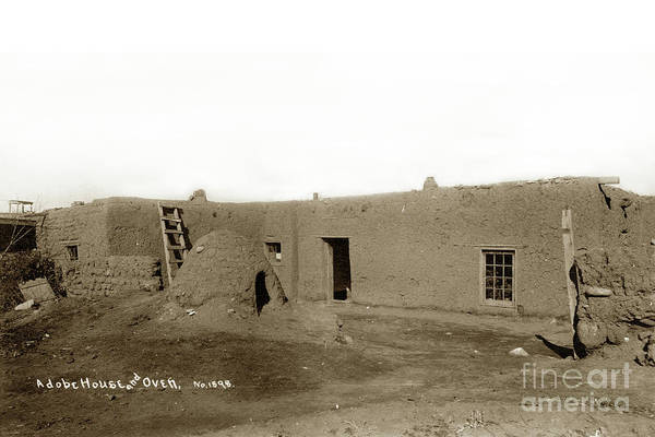 Photograph - Adobe House And Oven No. 1898 by California Views Archives Mr Pat Hathaway Archives