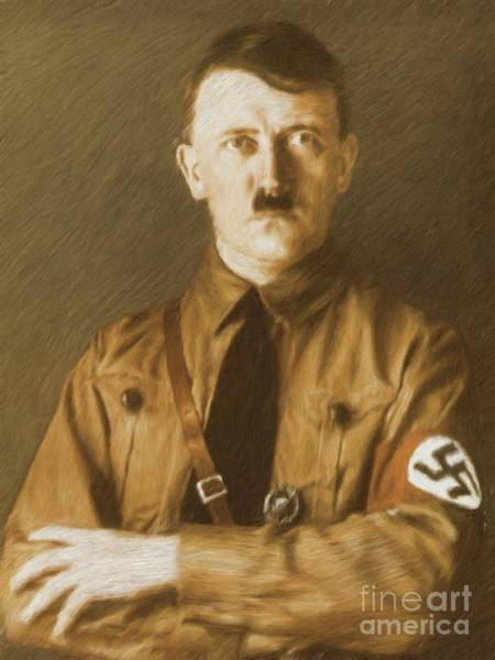 Wall Art - Painting - Adolf Hitler, Leaders Of Wwii Series.  by Esoterica Art Agency