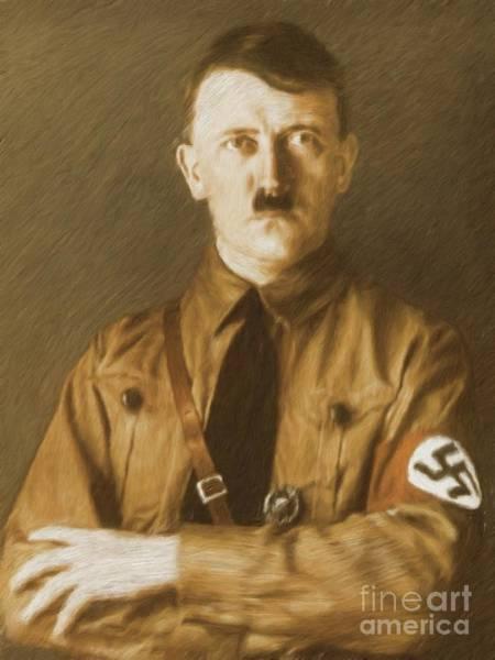 Lenin Painting - Adolf Hitler, Leaders Of Wwii Series.  by Esoterica Art Agency