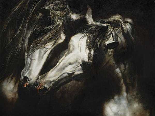 Shadow And Light Painting - Adoration by Heather Theurer