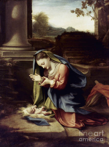 Photograph - Adoration Of The Child by Granger