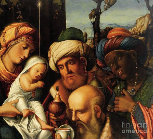 Wall Art - Painting - Adoration Of The Magi  by Francesco di Simone da
