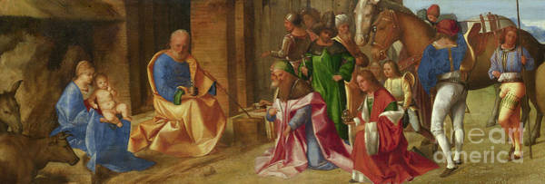Wise Man Wall Art - Painting - Adoration Of The Magi by Giorgione