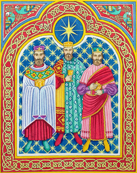 Three Kings Painting - Adoration Of The Magi  by Lavinia Hamer
