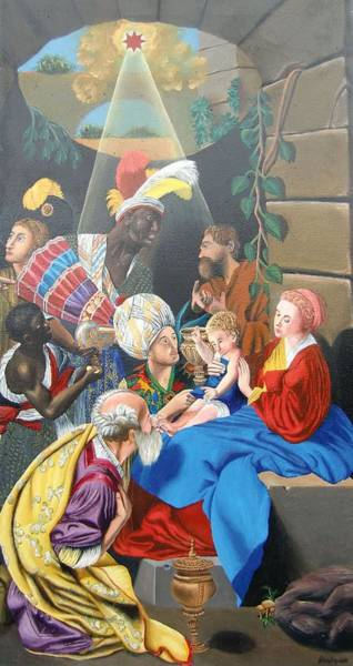Painting - Adoration Of The Magi by Philipp Merillat