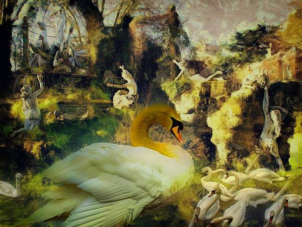 Digital Art - Adoration Of The Swan by Leigh Kemp