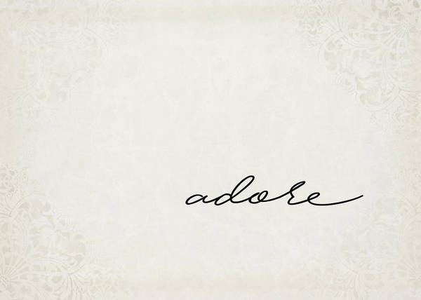 Positive Digital Art - Adore One Word Series by Ricky Barnard