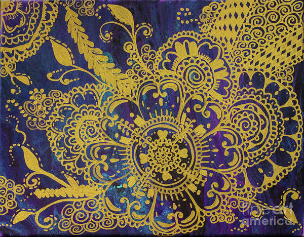 Entangled Painting - Adorned by Radiant Love