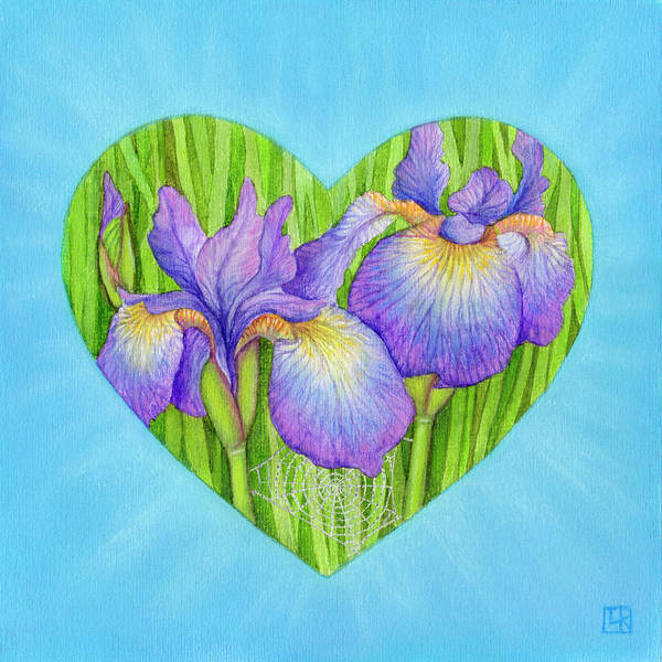 Purple Iris Mixed Media - Adree by Lisa Kretchman