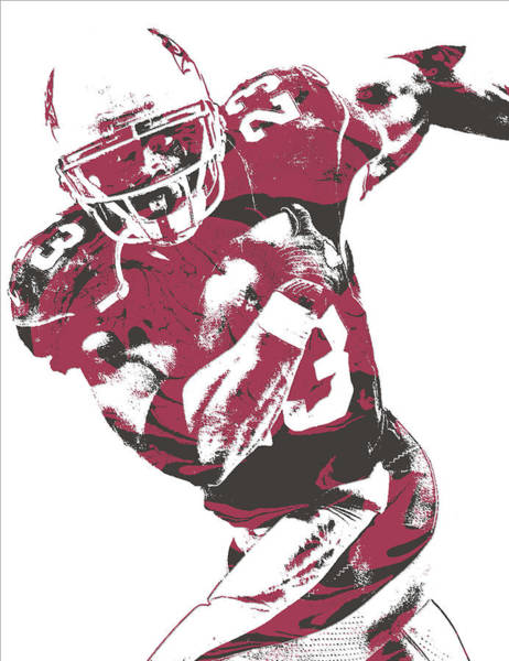 Cardinal Mixed Media - Adrian Peterson Arizona Cardinals Pixel Art 1 by Joe Hamilton