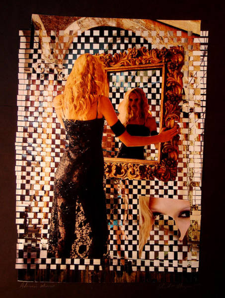 Paper Dress Mixed Media - Adriana's Mirror by David m Morgan