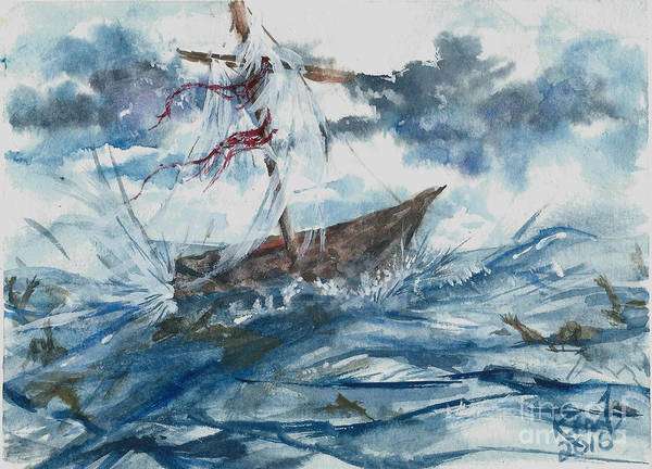 Painting - Adrift At Sea by Reed Novotny