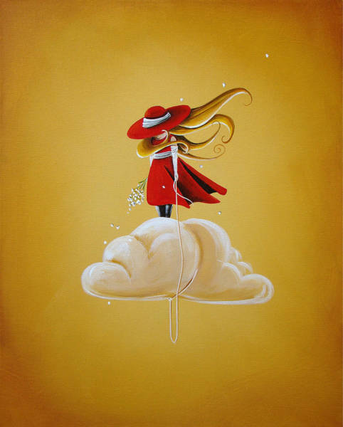Imaginative Painting - Adrift by Cindy Thornton