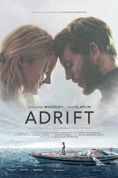 Mixed Media - Adrift by Movie Poster Prints