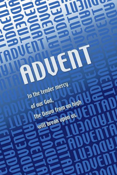 Digital Art - Advent Blue by Chuck Mountain