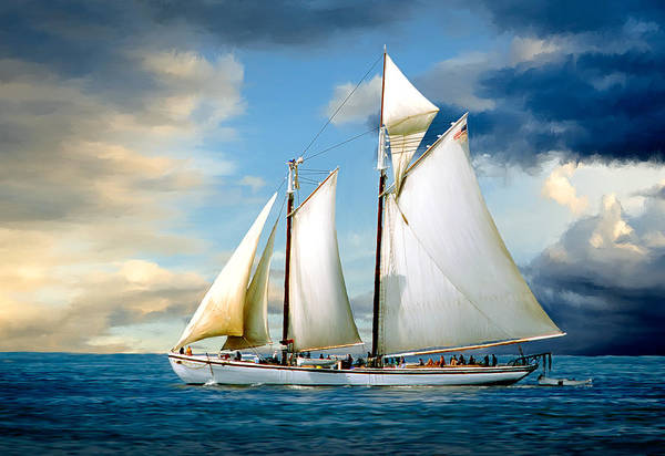 Schooner Photograph - Adventure by Fred LeBlanc
