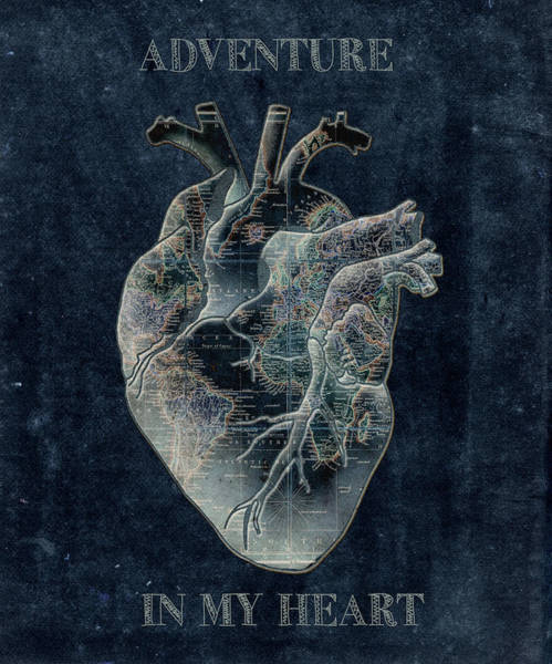 Anatomy Digital Art - Adventure Heart 3 by Bekim Art