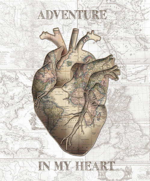 Anatomy Digital Art - Adventure Heart by Bekim Art