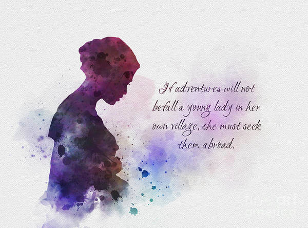 Jane Austen Wall Art - Mixed Media - Adventures Abroad by My Inspiration