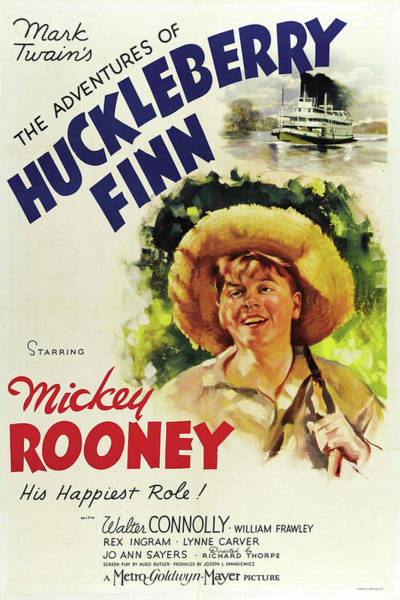 Wall Art - Mixed Media - Adventures Of Huckleberry Finn 2 by Movie Poster Prints