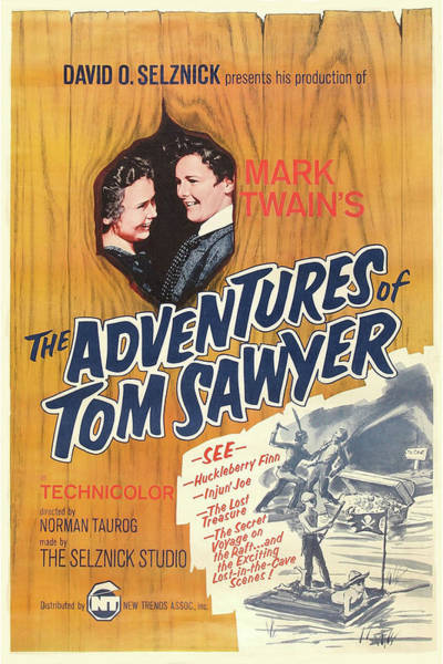 Mixed Media - Adventures Of Tom Sawyer 1938 by Movie Poster Prints
