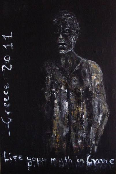 Painting - Advertisement 2 by Katerina Apostolakou