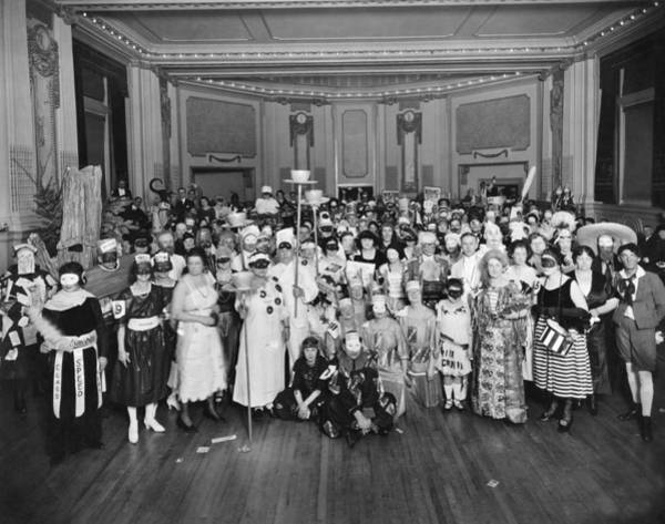 1921 Photograph - Advertising Costume Party by Underwood Archives