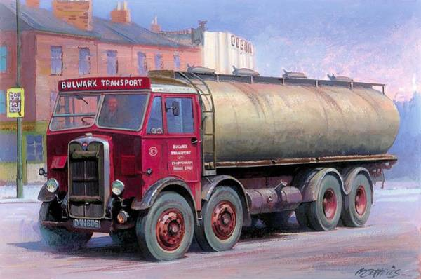 Wall Art - Painting - Aec Mammoth Major Tanker Bulwark by Mike Jeffries