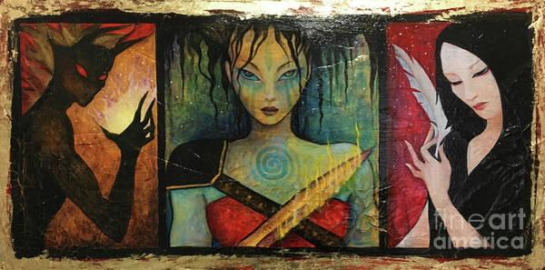 Flaming Sword Painting - Aemq by Dori Hartley