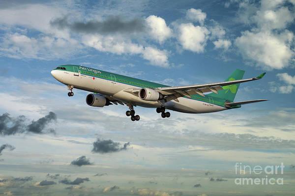 Wall Art - Digital Art - Aer Lingus Airbus A330 by J Biggadike