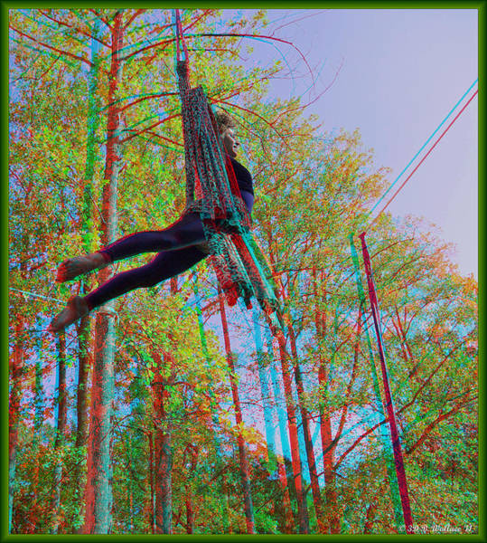 Anaglyph Photograph - Aerial Artist - Use Red-cyan 3d Glasses by Brian Wallace