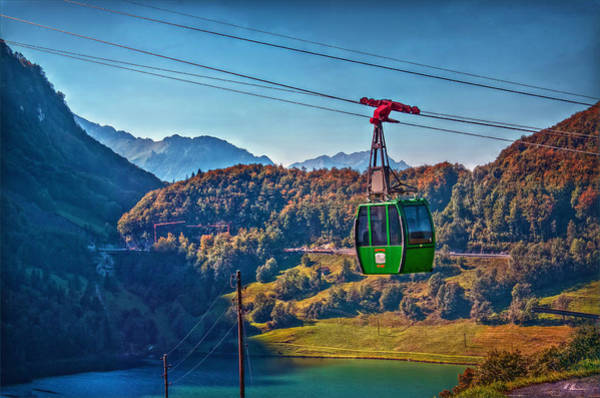 Aerial Tramway Wall Art - Photograph - Aerial Cableway by Hanny Heim
