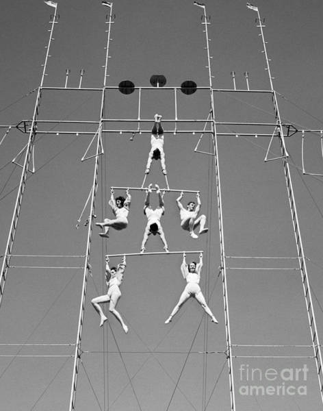 Trapeze Photograph - Aerial Circus Act, C.1940s by H. Armstrong Roberts/ClassicStock