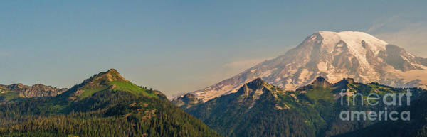 Mount Rainier Photograph - Aerial Mount Rainier And Tatoosh Range Panorama by Mike Reid