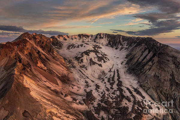 Wall Art - Photograph - Aerial Mount St Helens The Crater by Mike Reid