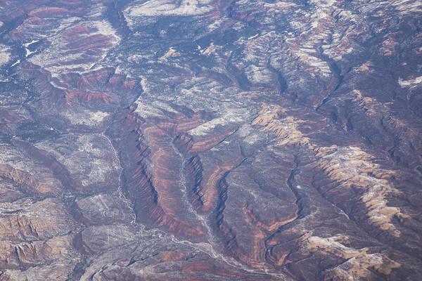 Photograph - Aerial - Multicolored Earth by Georgia Mizuleva