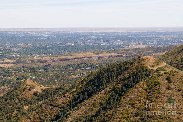 Photograph - Aerial Of Colorado Springs From The Red Mountain Trail by Steve Krull