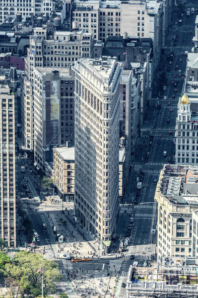 Wall Art - Photograph - Aerial Of Flatiron Building, New York, Usa by Matteo Colombo