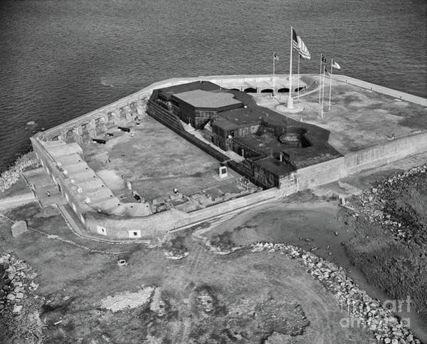Photograph - Aerial Of Fort Sumter by Dale Powell