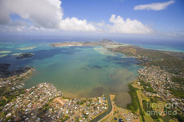 Expanse Photograph - Aerial Of Kaneohe Bay by Ron Dahlquist - Printscapes
