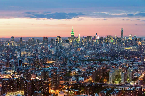 Wall Art - Photograph - Aerial Of Midtown Manhattan With Empire State Building, New York by Matteo Colombo