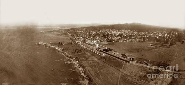 Photograph - Aerial Of Pacific Grove  July 10, 1906 by California Views Archives Mr Pat Hathaway Archives