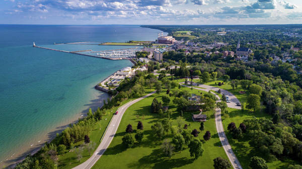 Photograph - Aerial Of Port Washington by James Meyer