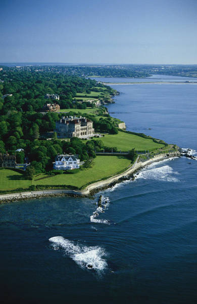 Richard Morris Hunt Wall Art - Photograph - Aerial Of The Breakers, A Mansion Built by Ira Block